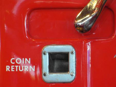 Free Stock Photo of Coin Return Red Vending Machine