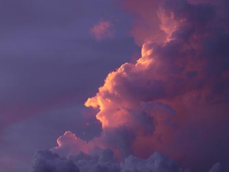 Free Stock Photo of Sun Rimmed Cloud