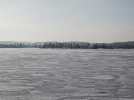 Free Stock Photo of River covered with a thick layer of ice