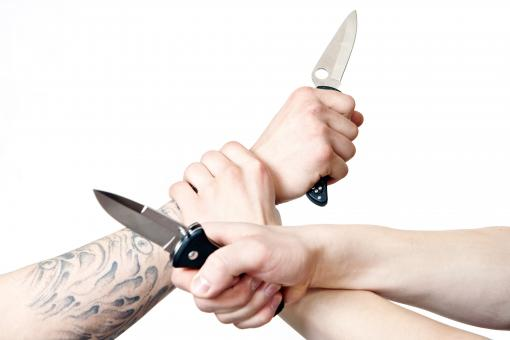 Free Stock Photo of Knife Fight