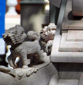 Free Stock Photo of Chinese Lion Sculpture