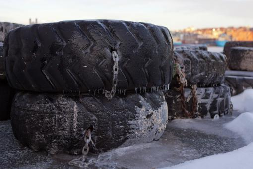 Free Stock Photo of Old Tires for Wharf