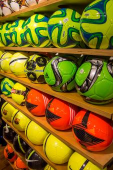 Free Stock Photo of Soccer balls