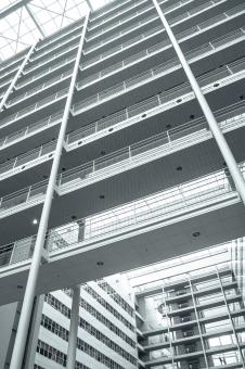 Free Stock Photo of Office building close up