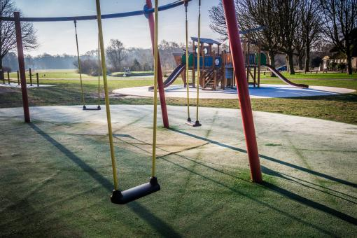 Free Stock Photo of Playground swing set