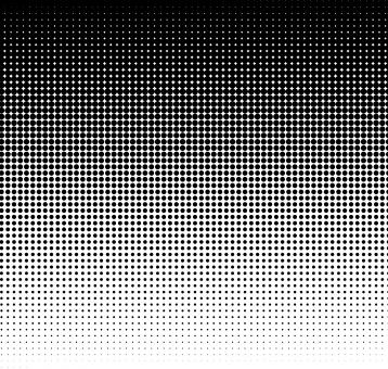 Free Stock Photo of Black halftone dots on white