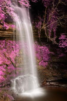 Free Stock Photo of Pink Glencar Falls - HDR