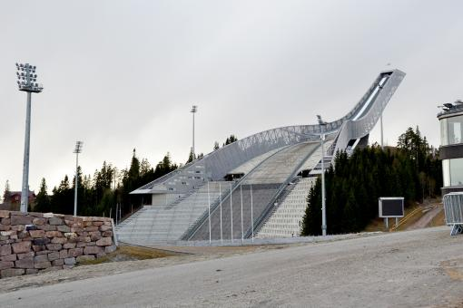 Free Stock Photo of Ski jumping hill