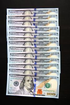 Free Stock Photo of new hundred dollar bills