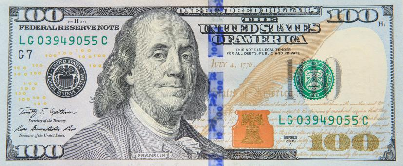 Free Stock Photo of dollar banknote