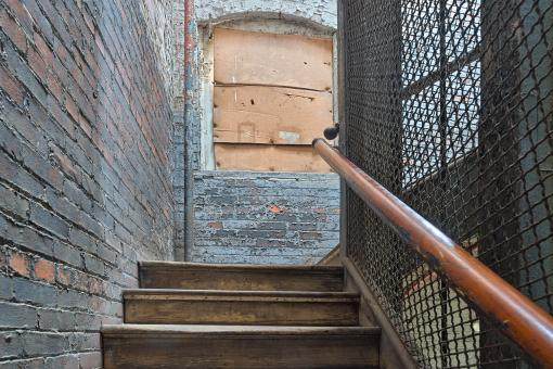 Free Stock Photo of Lonaconing Silk Mill Staircase - HDR