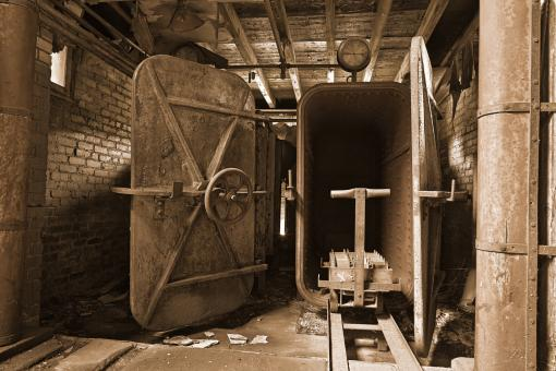 Free Stock Photo of Abandoned Lonaconing Silk Mill - Sepia H