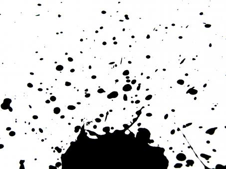 Free Stock Photo of Black ink splatters