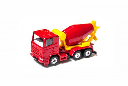 Free Stock Photo of Toy truck isolated over white background