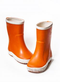 Free Stock Photo of Orange children`s rain boots