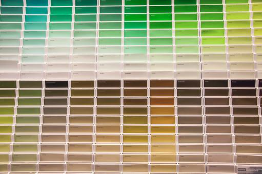 Free Stock Photo of Paint swatches smaples in shop