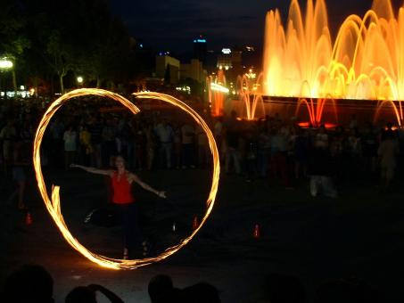 Free Stock Photo of Fire Dancer