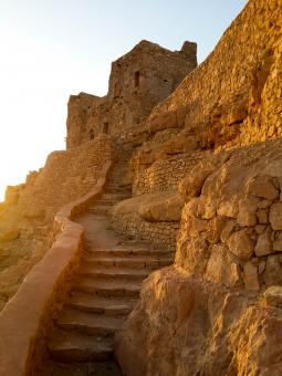 Free Stock Photo of Mountain stairs inthe ancient Berber vil