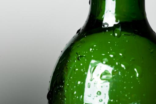 Free Stock Photo of Green bottle with drops