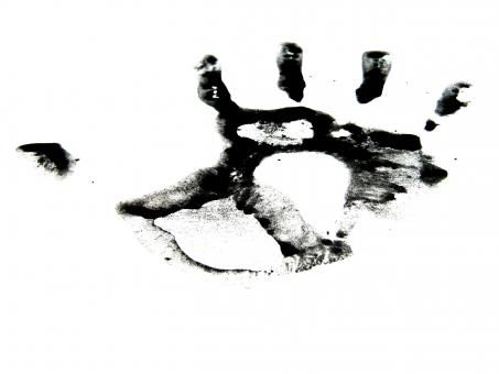Free Stock Photo of Black ink hand