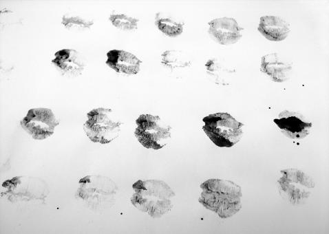 Free Stock Photo of Ink Kisses on Paper