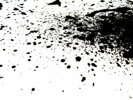 Free Stock Photo of Black ink splatter