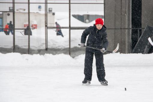 Free Stock Photo of boy playing ice hockey
