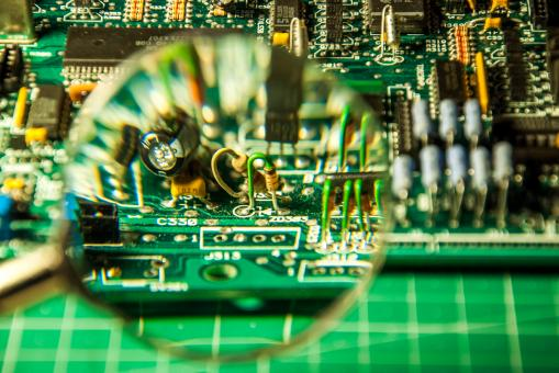 Free Stock Photo of Electronic circuit board