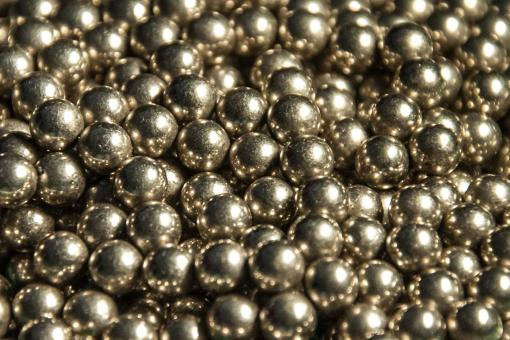 Free Stock Photo of Metal balls close up