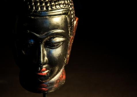 Free Stock Photo of Buddha statue dark background