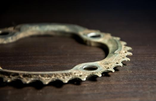 Free Stock Photo of Bicycle parts, chainring
