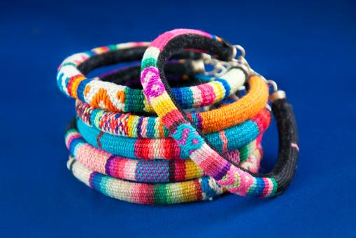 Free Stock Photo of Colorful fashion bracelets jewelry