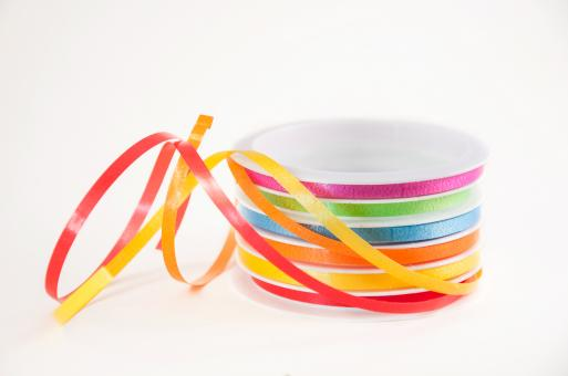 Free Stock Photo of Roll with colorful ribbons