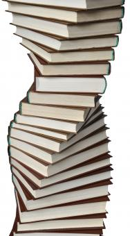 Free Stock Photo of Spiral of books