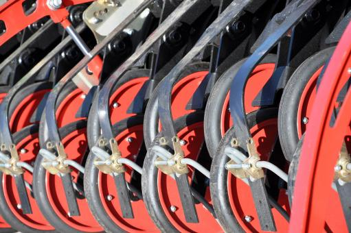 Free Stock Photo of Fragment of seeding equipment