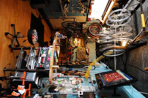 Free Stock Photo of Inside a Bike Shop