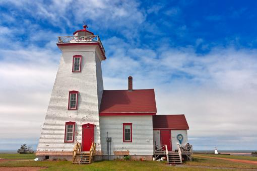 Free Stock Photo of PEI Lighthouse - HDR