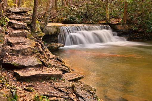 Free Stock Photo of Swallow Falls - HDR