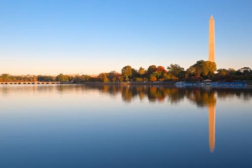 Free Stock Photo of Autumn DC Sunrise - HDR