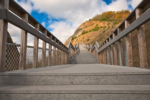 Free Stock Photo of Sideling Hill Stairway - HDR