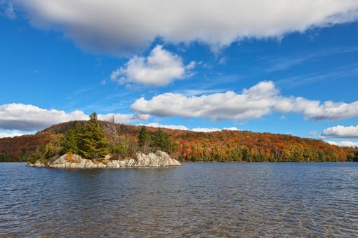 Free Stock Photo of Lac Stukely Autumn - HDR