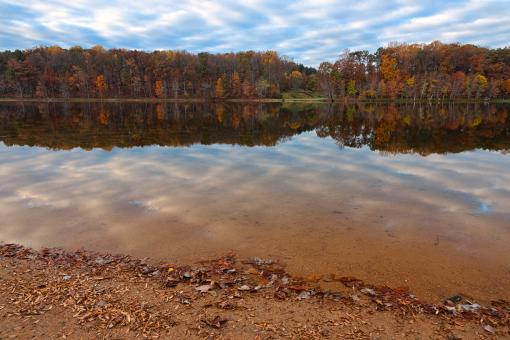 Free Stock Photo of Seneca Fall Reflections - HDR