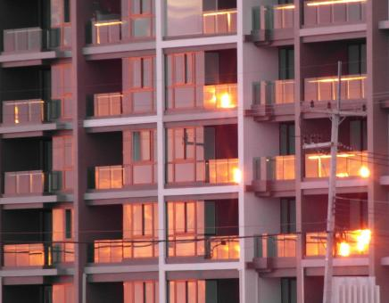 Free Stock Photo of Apartment Block at Sunset