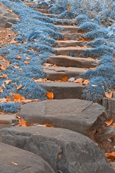 Free Stock Photo of Sapphire Stepping Stones - HDR