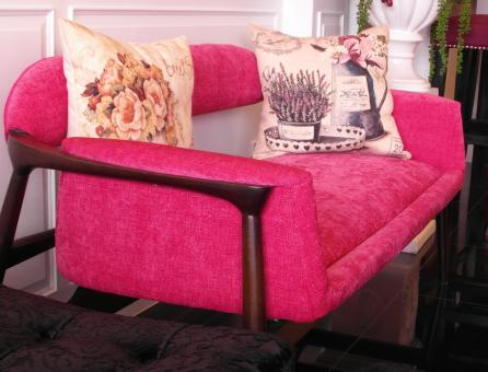 Free Stock Photo of Pink Sofa