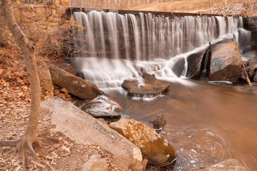 Free Stock Photo of Rustic Rock Run Falls