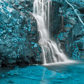 Free Stock Photo of Aquamarine Falls