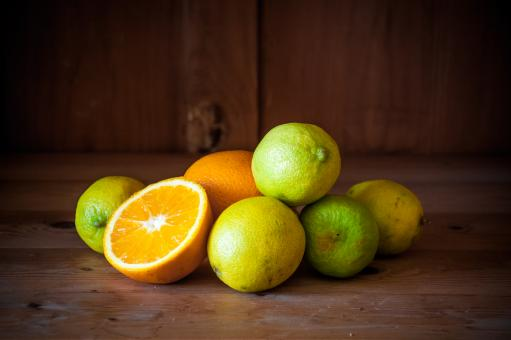 Free Stock Photo of Citrus fruits. Oranges, limes and lemons