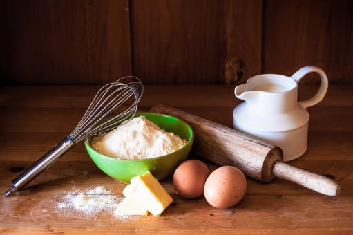 Free Stock Photo of Baking cake ingredients