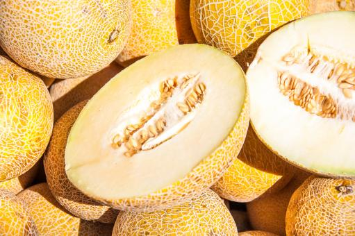 Free Stock Photo of Fresh Galia Melons